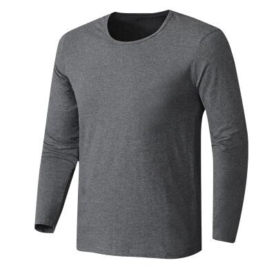 高品质 男士圆领打底衫  大码宽松搭配中老年三件套纯棉t恤
