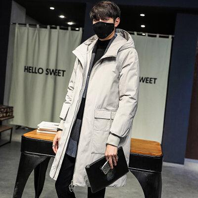 2020羽绒服男中长款冬季新款韩版潮流帅气加厚男装冬装外套