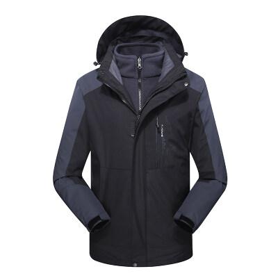 冲锋衣男三合一加绒加厚两件套潮牌西藏冬季可拆卸户外女士登山服