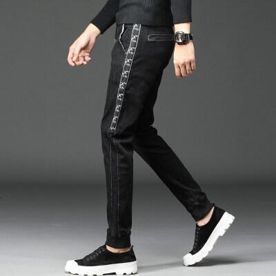 男士牛仔裤韩版潮流春秋薄款青年长裤子休闲
