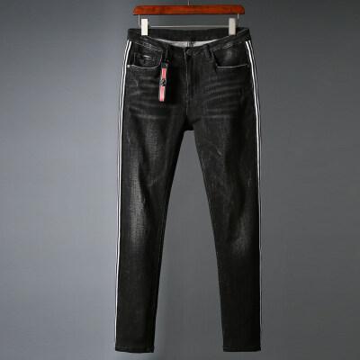 春夏牛仔裤男士秋季新款修身韩版休闲宽松直筒裤子