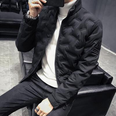 2018新款时尚韩版修身棉衣青少年纯色棉服外套