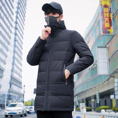 冬季羽绒服男士中长款2018新款潮流帅气青年韩版修身加厚冬装