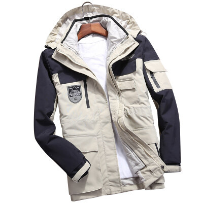 明星同款冲锋衣两件套三合一日系原宿风户外滑雪登山棉服