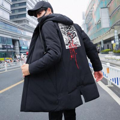 2018新款冬季男士外套羽绒服帅气装韩版潮流ins加厚中长款