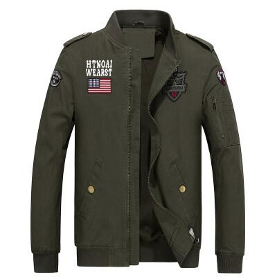 B522 纯棉男士水洗夹克军工装夹克男大码跨境专供外贸