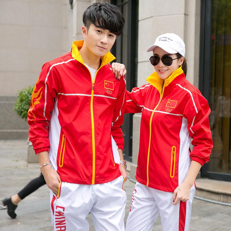 情侣运动套装男士运动服女套装团购校服运动会服装