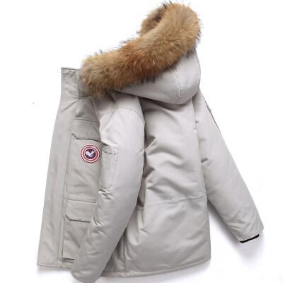 2019秋冬季新款羽绒服男青年加拿大鹅短款新款韩版加厚外套