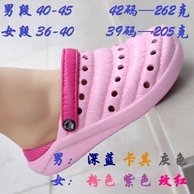 满足【T1911】高弹情侣款凉拖鞋毛毛虫鞋洞洞鞋果冻鞋36-