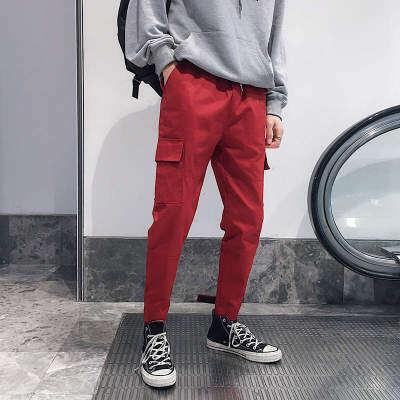港风商场 K19415-P50 100%棉 新品大码休闲裤 束脚工装裤