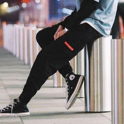 夜景万象城 K19400-P55 100%棉 新款大码休闲裤 束脚工装裤