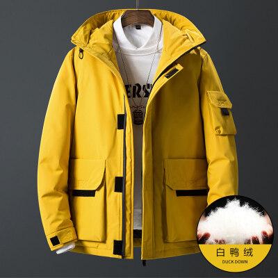冬季青年户外羽绒服男2018新款韩版潮流学生加厚男潮牌