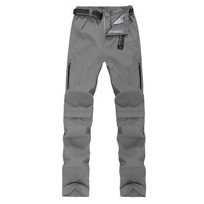户外速干裤春秋季运动长裤子登山薄款可脱卸冲锋裤夏薄大码