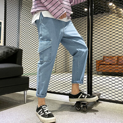 MJ317牛仔工装裤M-4XL码