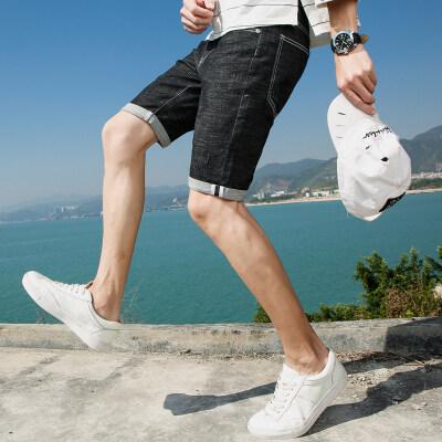 春夏新款 951牛仔短裤五分裤男 海景风格图