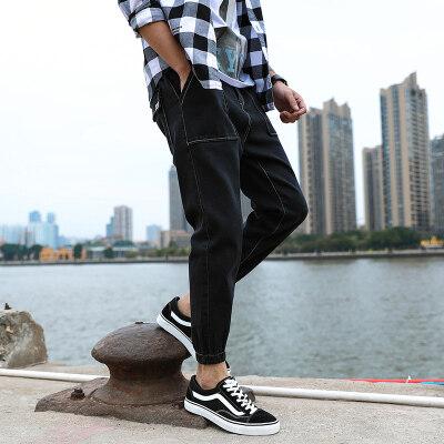 男士军工裤牛仔裤小脚裤青年大码休闲裤