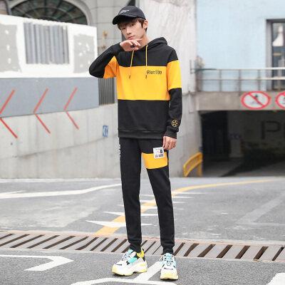 卫衣套装男潮流boy2019春季新款ins韩版潮牌衣服外
