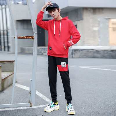 卫衣套装男潮流boy2019春季新款韩版潮牌衣服外