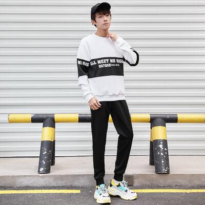 卫衣套装男潮流boy2019春季新款韩版潮牌衣服外套