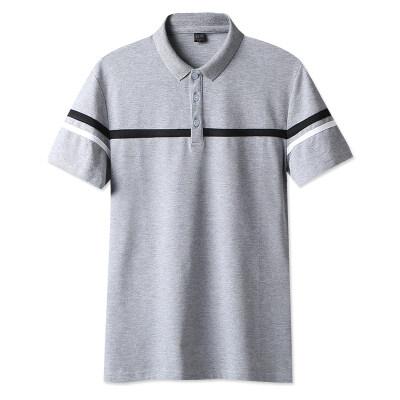 夏装短袖polo衫男士ins翻领男t恤短袖港风保罗衫原宿