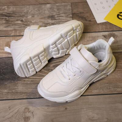 春夏季爆款小白鞋中大童鞋男女鞋子