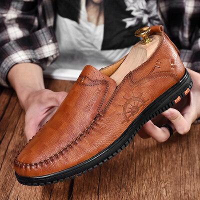 皮鞋男韩版潮流英伦百搭小皮鞋青年商务冬季男士休闲男鞋子男潮鞋