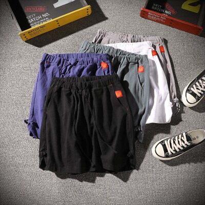 日系潮牌   K17018-P25  100%棉  新款大码短裤 男