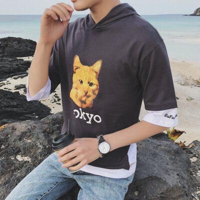 港风-济州岛  T18835-P35   95%棉5%聚酯纤维 新款大码T恤 男