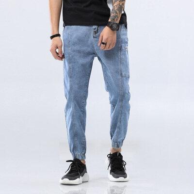 男士牛仔裤青年大码军工裤四季裤长裤