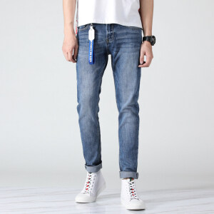 2019春夏款潮男水洗白牛仔裤纯棉裤28-36码 901