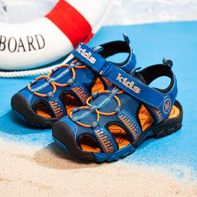 板哥鞋业 童鞋沙滩鞋包头凉鞋防滑鞋