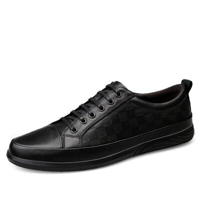 外贸大码时尚休闲板鞋 头层牛皮 皮鞋码37-47 长期备货