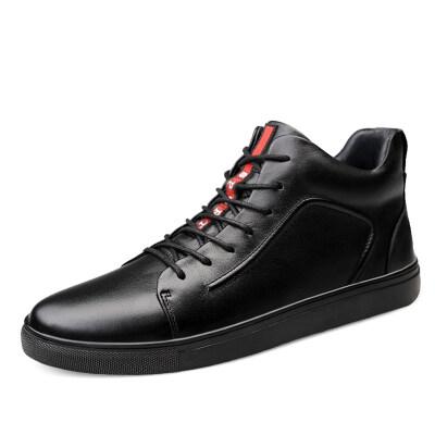外贸大码时尚板鞋 头层牛皮 皮鞋码37-47 长期备货
