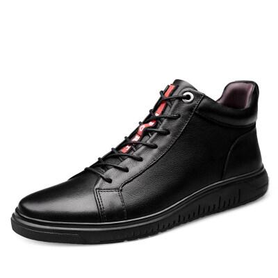 百搭高帮板鞋 头层牛皮 皮鞋码35-44 长期备货