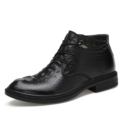 外贸大码简约商务短靴 头层牛皮 皮鞋码35-48 长期备货