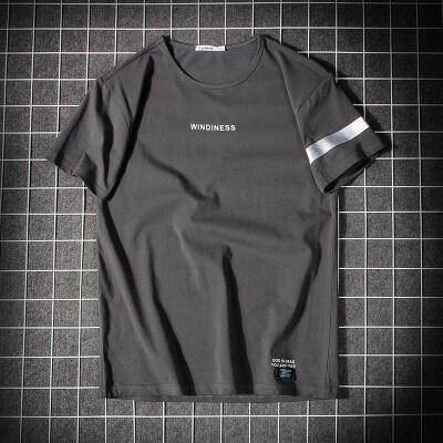 男装夏季短袖T恤日系平铺95%棉5%氨纶 M-3XL