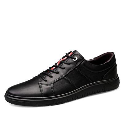 时尚百搭板鞋 头层牛皮 皮鞋码35-44 长期备货