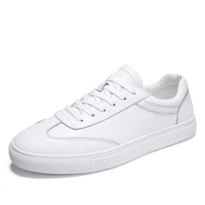 外贸大码时尚百搭小白鞋 优质牛皮 皮鞋码37-46 长期备货