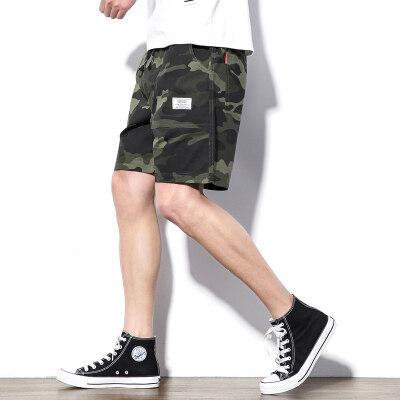 新款夏季短裤男士迷彩休闲五分裤子青年韩版修身中裤潮流男装夏天