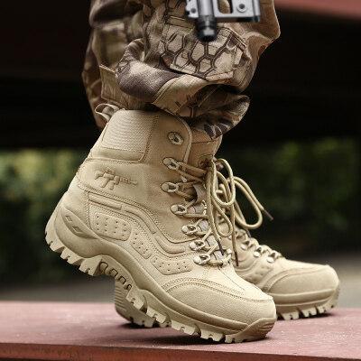 厂家直销大码跨境专供战术靴春秋新款高帮户外登山军靴一件代发