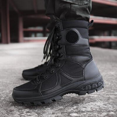 跨境专供大码透气军靴男超轻作战靴男户外登山特勤鞋特种兵男女