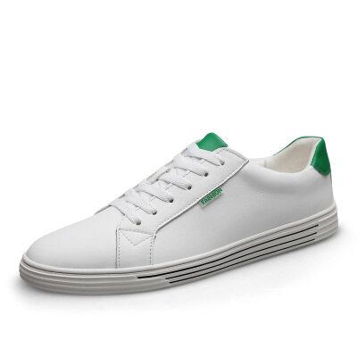 简约时尚百搭小白鞋 优质牛皮 皮鞋码37-45 长期备货