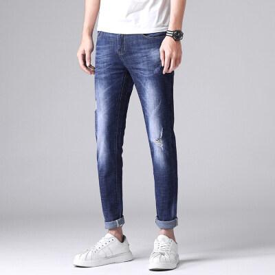 主推 春夏款2019牛仔裤男士潮流韩版水洗蓝色625