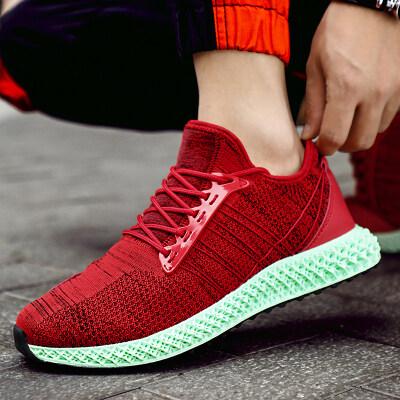 铭星鞋业 运动男鞋9001飞织男鞋4D打印跑步鞋户外运动鞋跨境男鞋