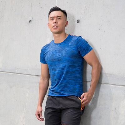 夏季短袖t恤男户外运动健身套装情侣款吸湿排汗瑜伽服女弹力透气