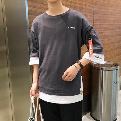 港风-雷 T18838-P35 95%棉5%聚酯纤维  新款大码T恤 男