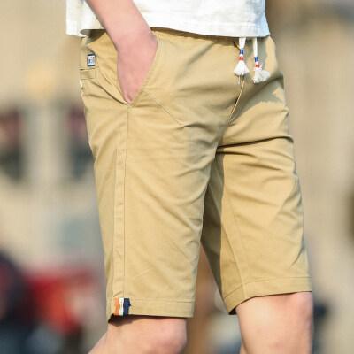 2019新款夏季短裤男纯棉裤休闲短裤男五分裤跨境沙滩裤直筒裤