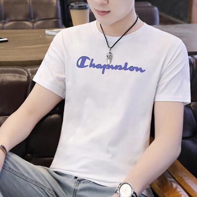 95棉5氨纶高品质短袖T恤男夏季新款男士圆领韩版修身潮流上装
