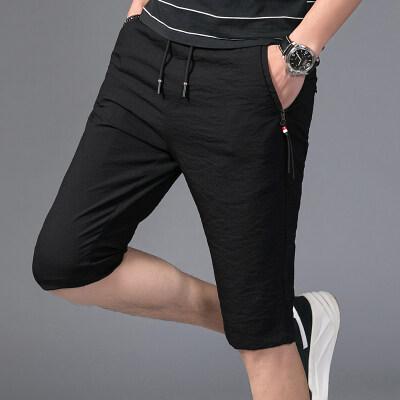 2019新款短裤男韩版裤潮流短裤修身男士裤中裤7分运动休闲裤