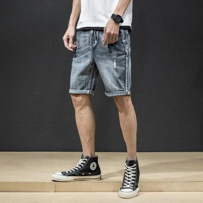 512 春夏牛仔短裤灰色  木板风